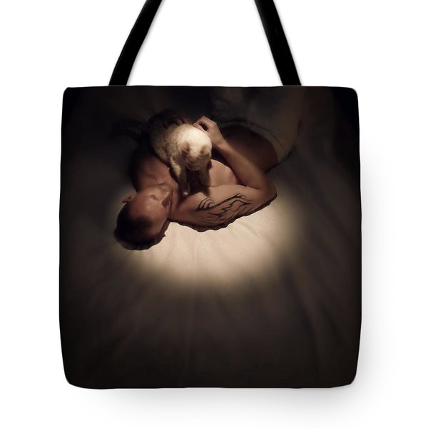 Kitty Cuddles Tote Bag