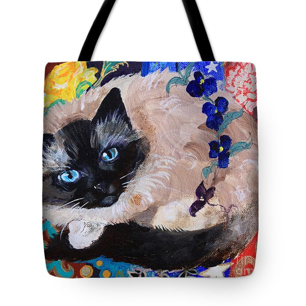Kitty Goes To Paris Tote Bag