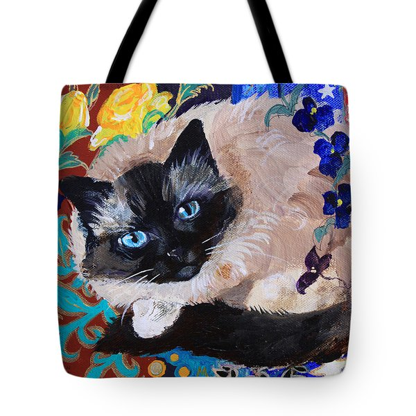 Kitty Goes To Paris Tote Bag by Robin Maria Pedrero