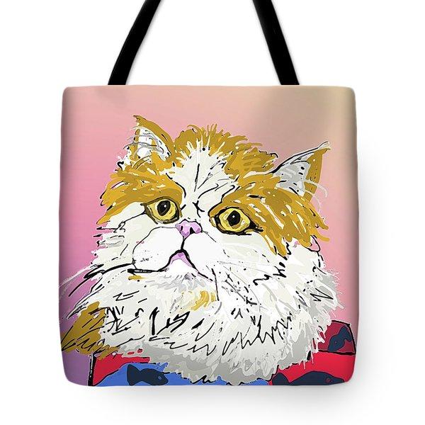 Kitty In Tuna Can Tote Bag