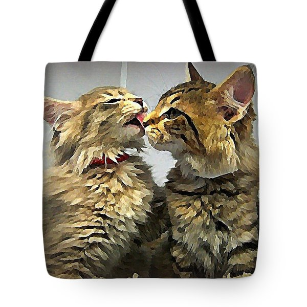 Kitty Kisses Tote Bag