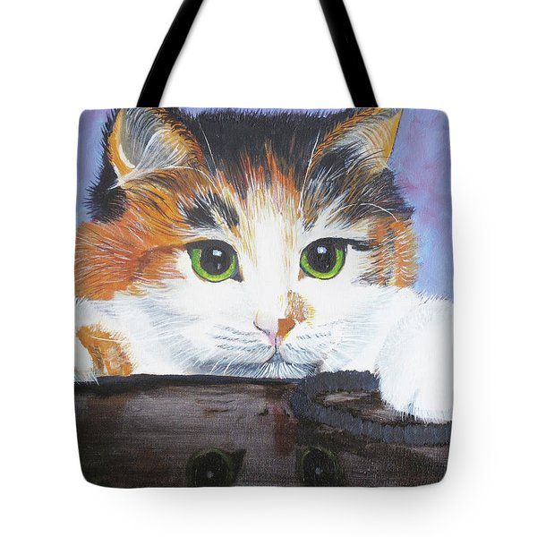 Kitty Reflections Tote Bag
