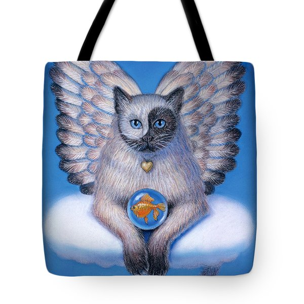 Kitty Yin Yang- Cat Angel Tote Bag