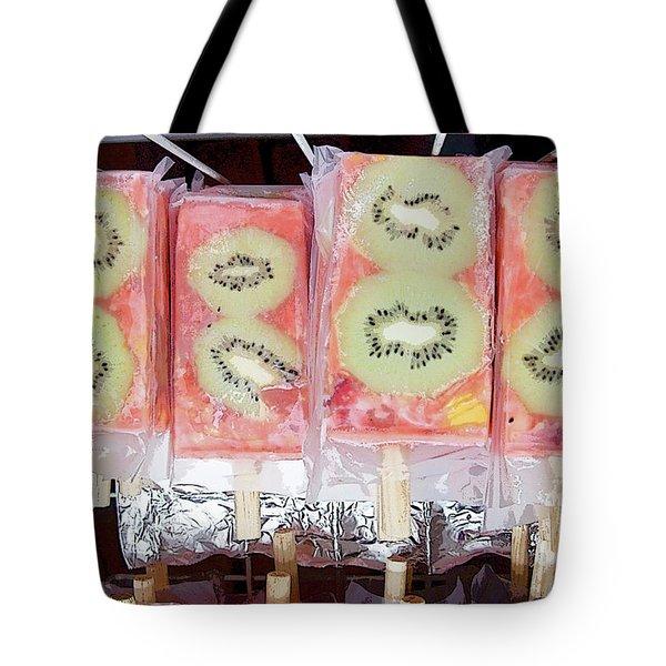 Kiwi Pops Tote Bag by Glennis Siverson