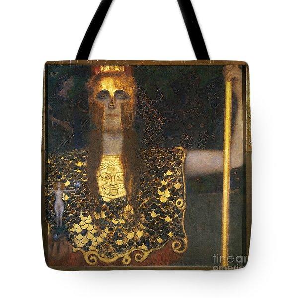 Klimt - Pallas Athena 1898 Tote Bag by Granger