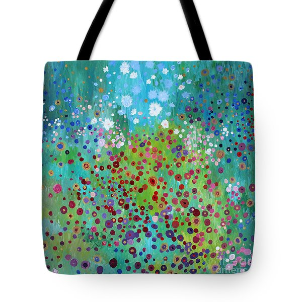 Tote Bag featuring the painting Klimt's Garden by Stacey Zimmerman