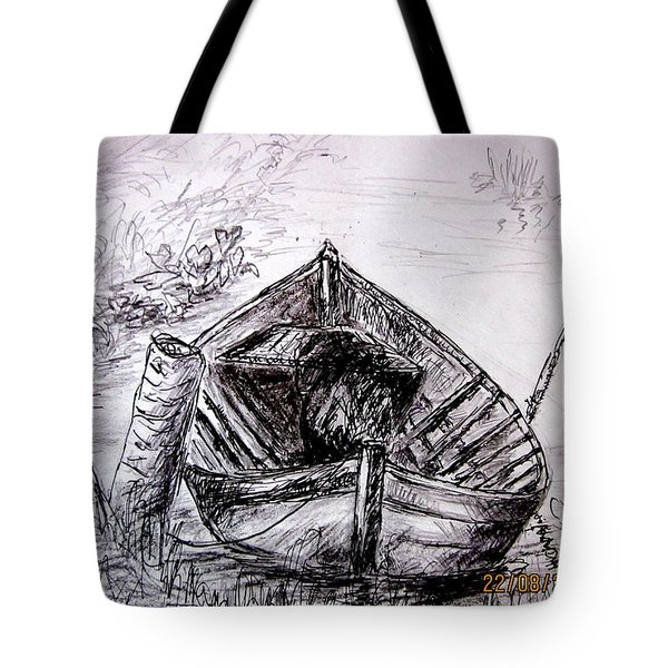 Tote Bag featuring the drawing Klotok  by Jason Sentuf