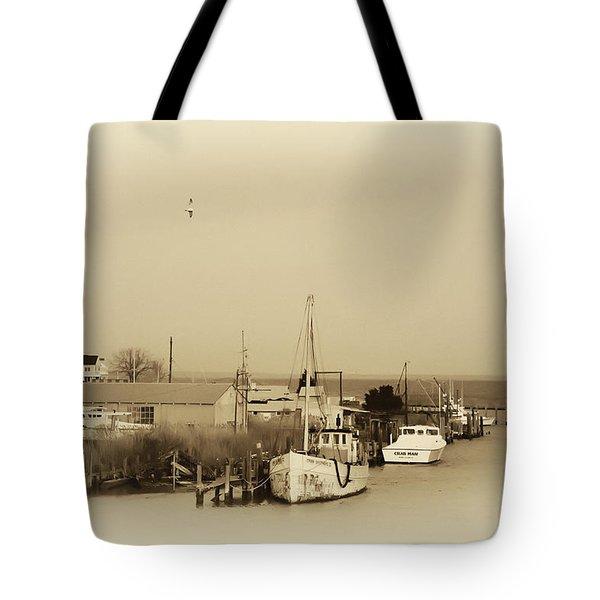 Knapps Narrows Tilghman Island Tote Bag by Bill Cannon