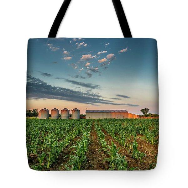 Knee High Sweet Corn Tote Bag by Steven Sparks