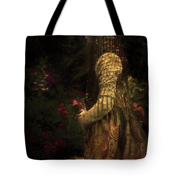 Kneeling In The Garden Tote Bag
