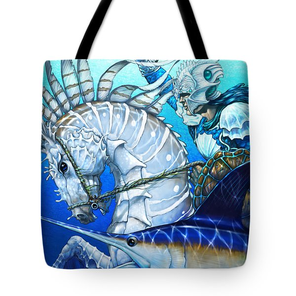 Tote Bag featuring the digital art Knight Of Swords by Stanley Morrison