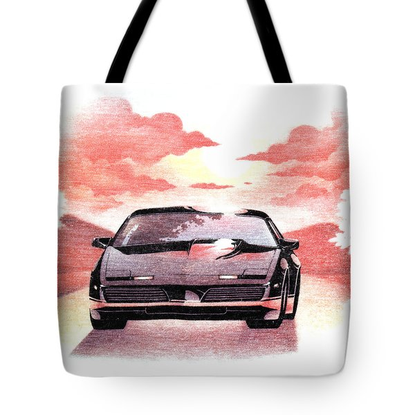 Knight Rider Tote Bag by Gina Dsgn
