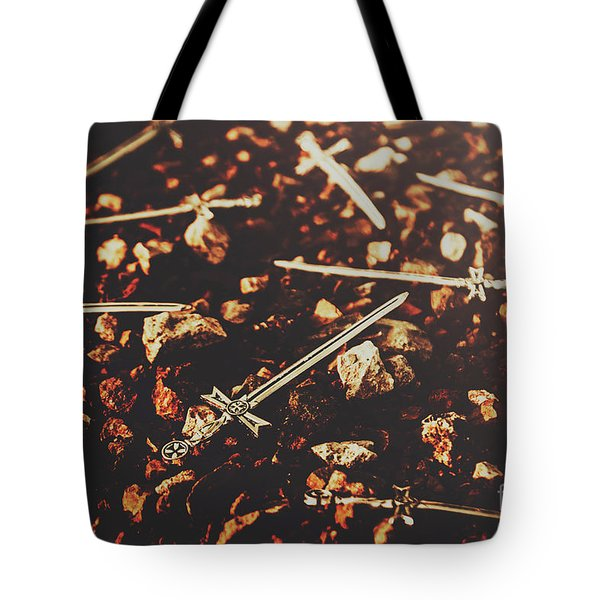 Knightly Fight Tote Bag