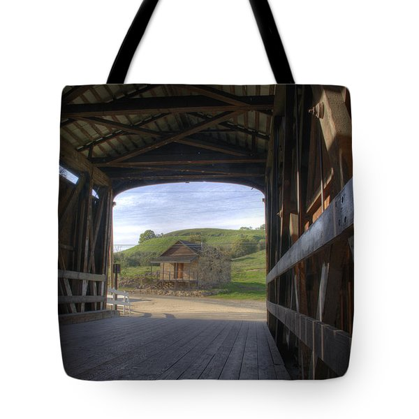 Knights Ferry Covered Bridge Tote Bag