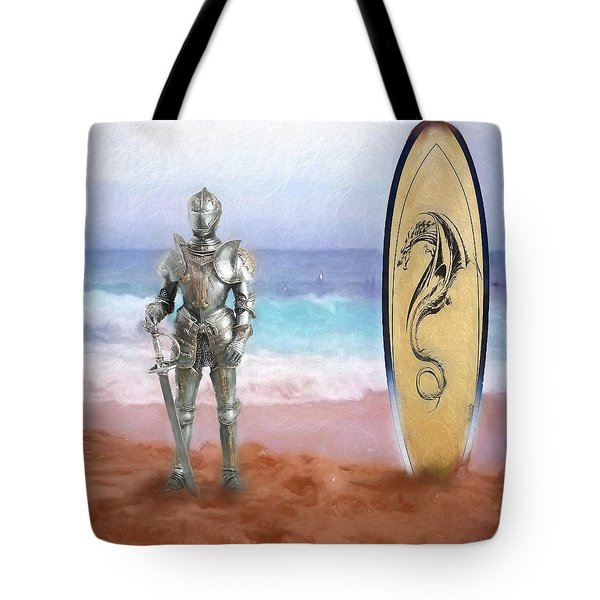 Knights Landing Tote Bag by Michael Cleere