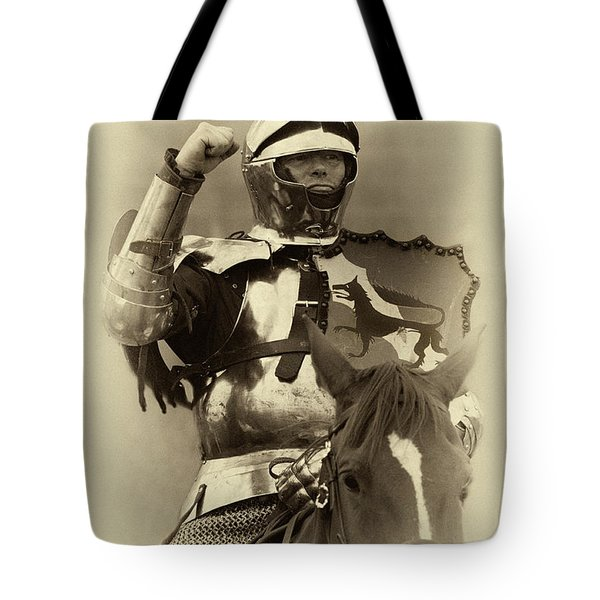 Knights Of Old 16 Tote Bag by Bob Christopher