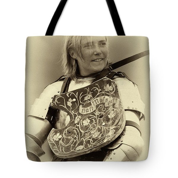 Knights Of Old 17 Tote Bag by Bob Christopher