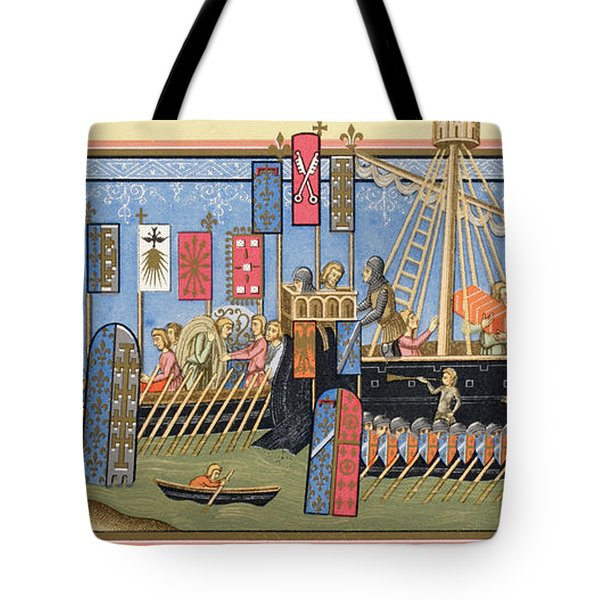 Knights Of The Holy Ghost Embarking For Tote Bag