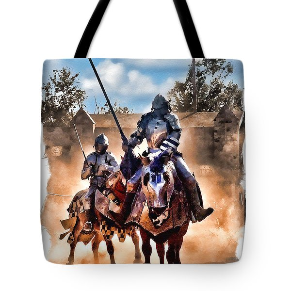 Knights Of Yore Tote Bag by Tom Schmidt