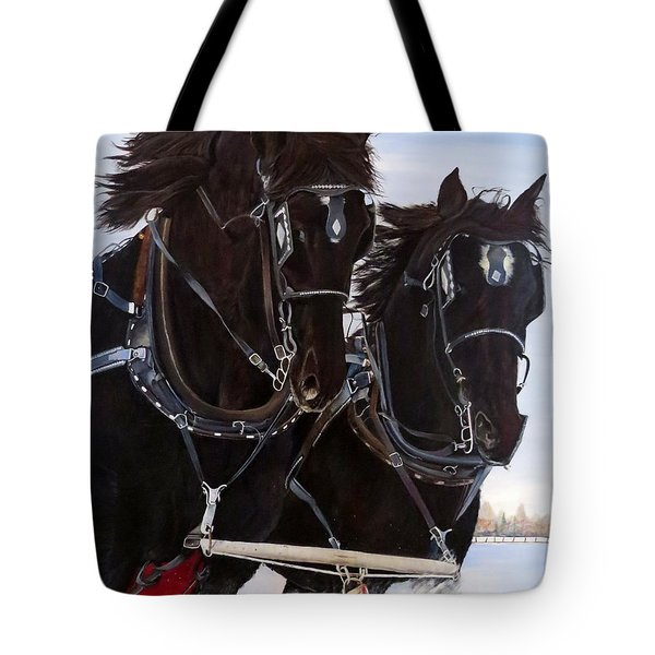 Knights On Four Tote Bag