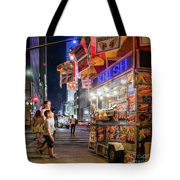 Tote Bag featuring the photograph Knish, New York City  -17831-17832-sq by John Bald