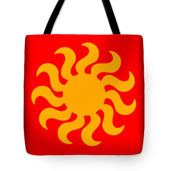 Knitted Sun Tote Bag