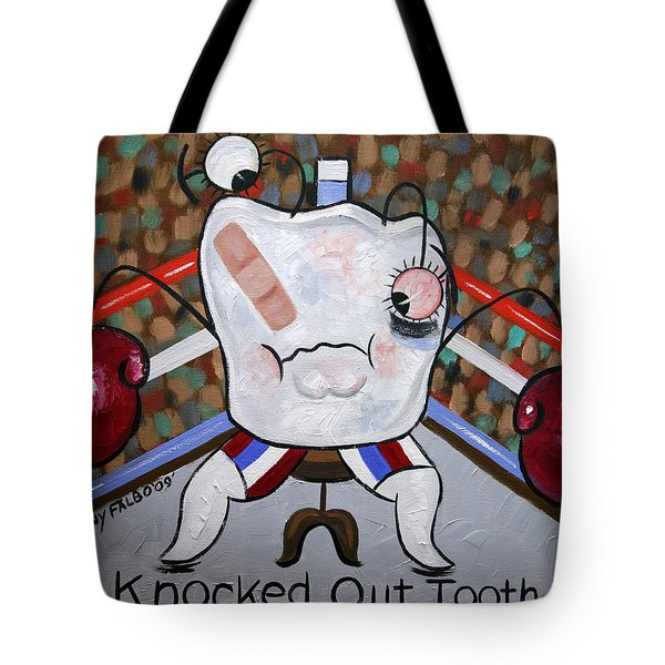Tote Bag featuring the painting Knocked Out Tooth by Anthony Falbo