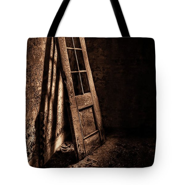 Knockin' At The Wrong Door Tote Bag by Evelina Kremsdorf