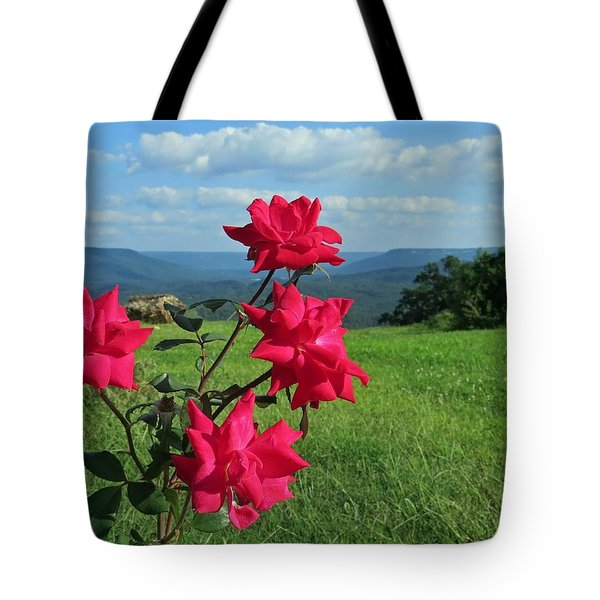 Tote Bag featuring the photograph Knockout Rose 2 by Aaron Martens