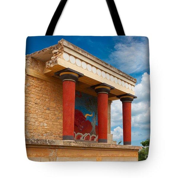 Knossos Palace At Crete, Greece Tote Bag