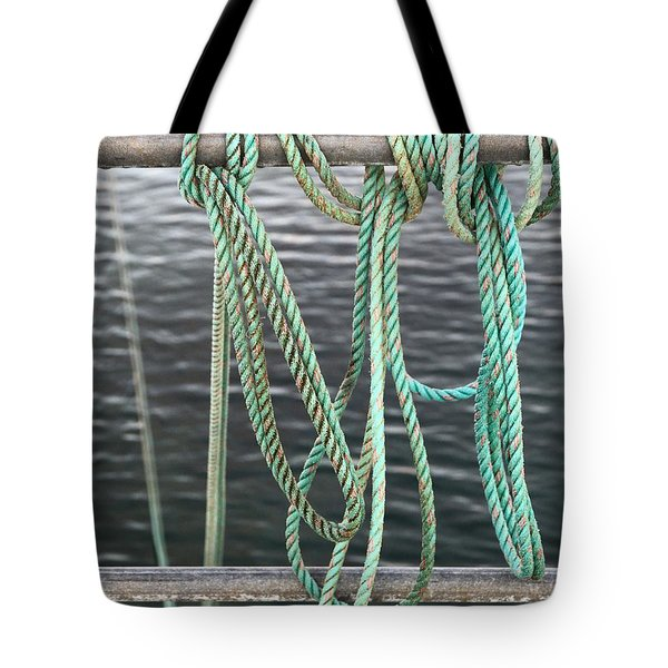 Tote Bag featuring the photograph Knot Of My Warf II by Stephen Mitchell