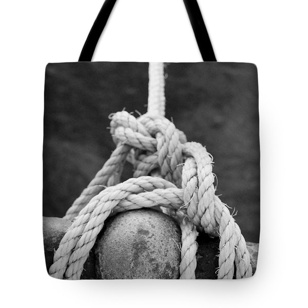 Tote Bag featuring the photograph Knot On My Warf Iv by Stephen Mitchell