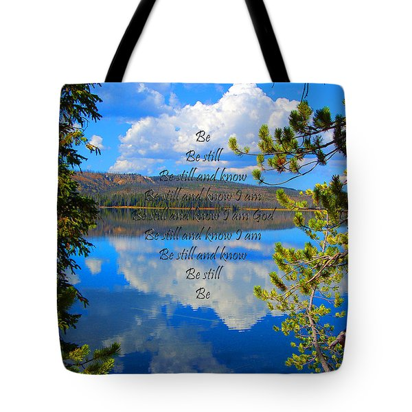 Tote Bag featuring the photograph Know I Am by Diane E Berry