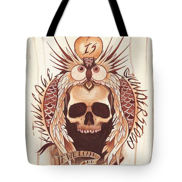 Knowledge Tote Bag by Deadcharming Art