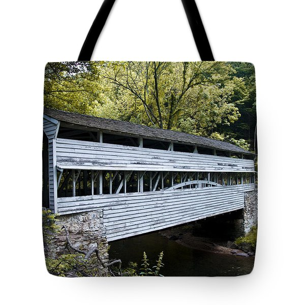 Knox Covered Bridge - Valley Forge Tote Bag by Bill Cannon