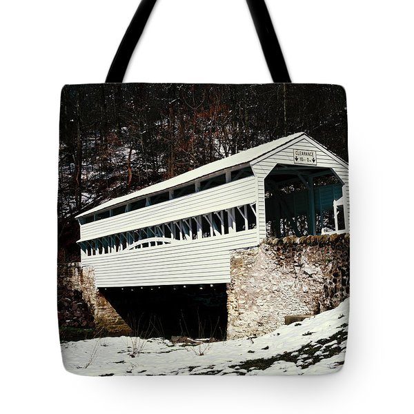 Knox Covered Bridge Historical Place Tote Bag by Sally Weigand