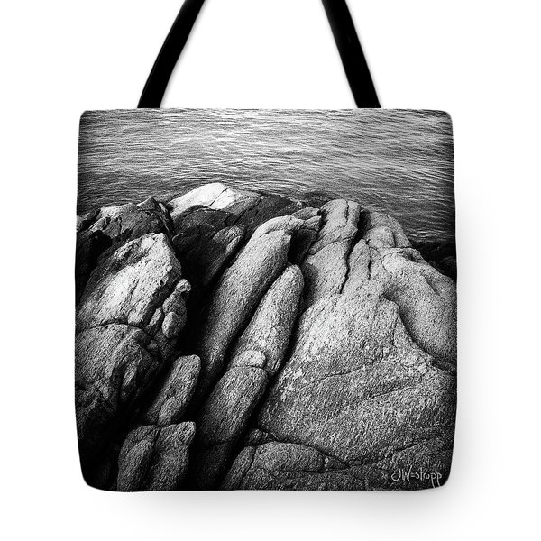 Tote Bag featuring the photograph Ko Samet Rocks In Black by Joseph Westrupp
