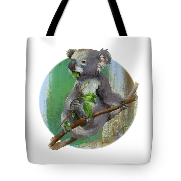 Koala Eating Tote Bag