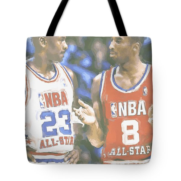 Kobe Bryant Michael Jordan Tote Bag