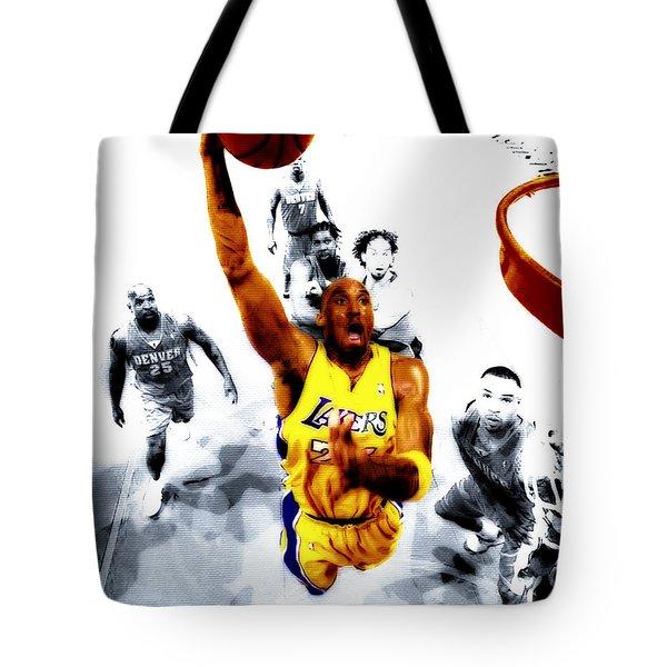 Kobe Bryant Took Flight Tote Bag