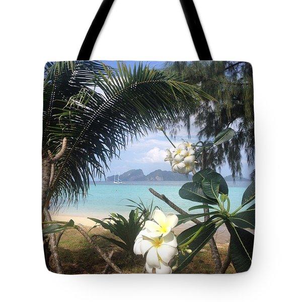 An Island Far Away Tote Bag