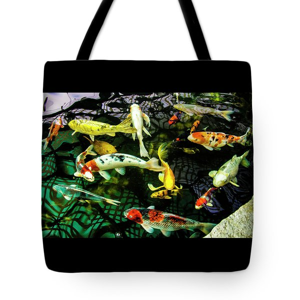 Tote Bag featuring the photograph Koi 2018 1 by Phyllis Spoor