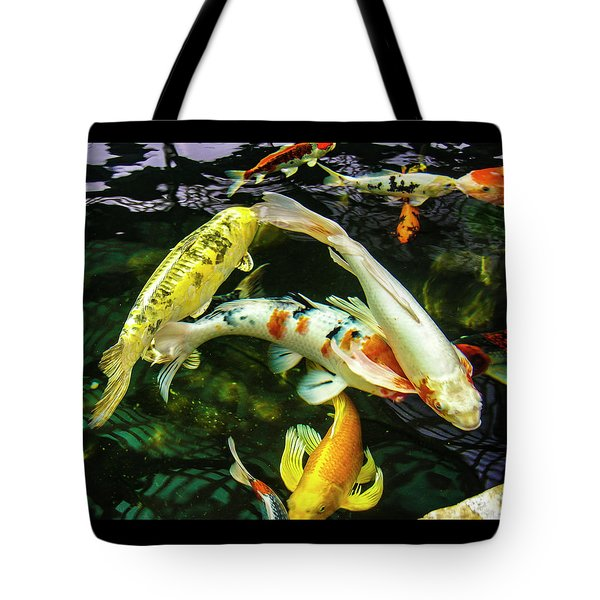 Tote Bag featuring the photograph Koi 2018 2 by Phyllis Spoor