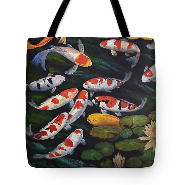 Koi Among The Lily Pads II Tote Bag