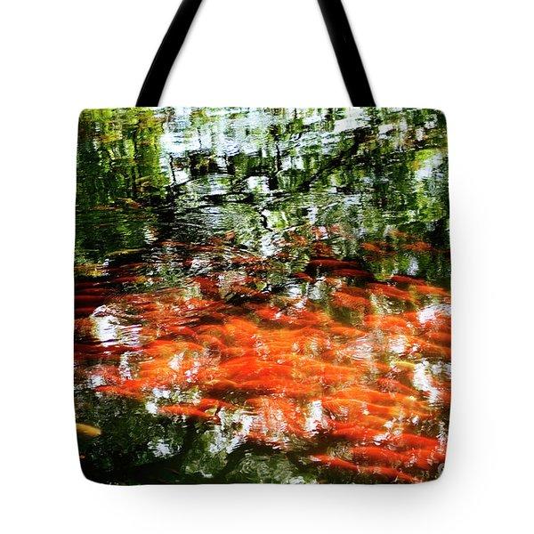 Koi And Reflections I Tote Bag
