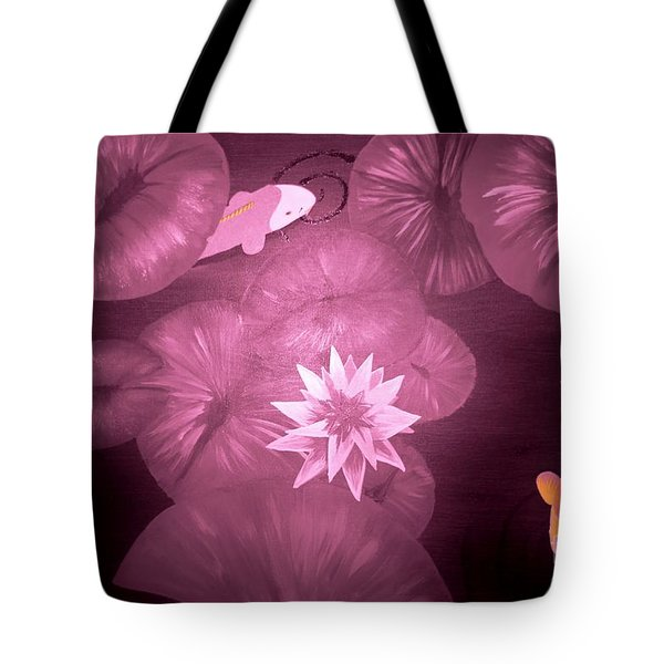 Koi At Night Tote Bag by Tim Townsend