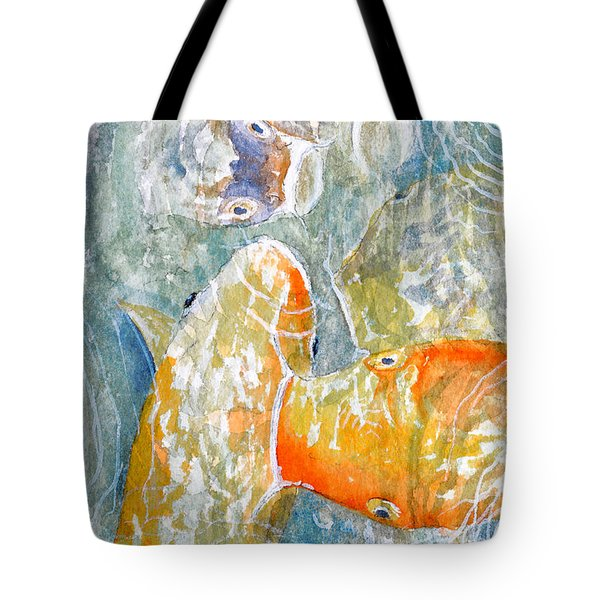 Koi Carp Feeding Frenzy Tote Bag by Bill Holkham