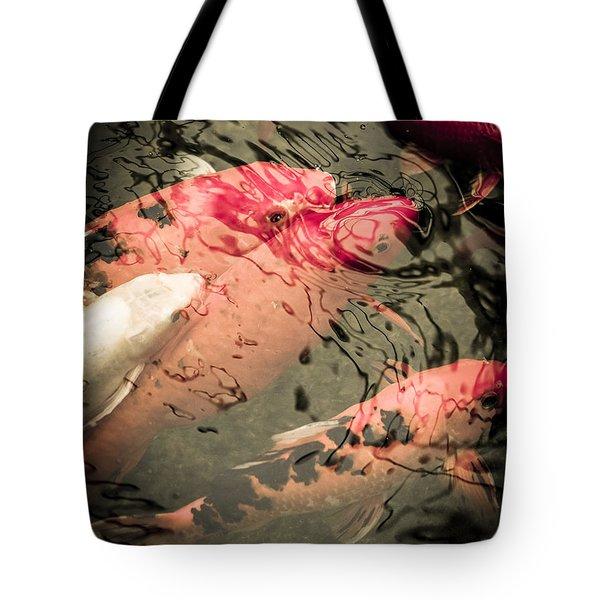 Koi Carps Tote Bag by Perry Van Munster