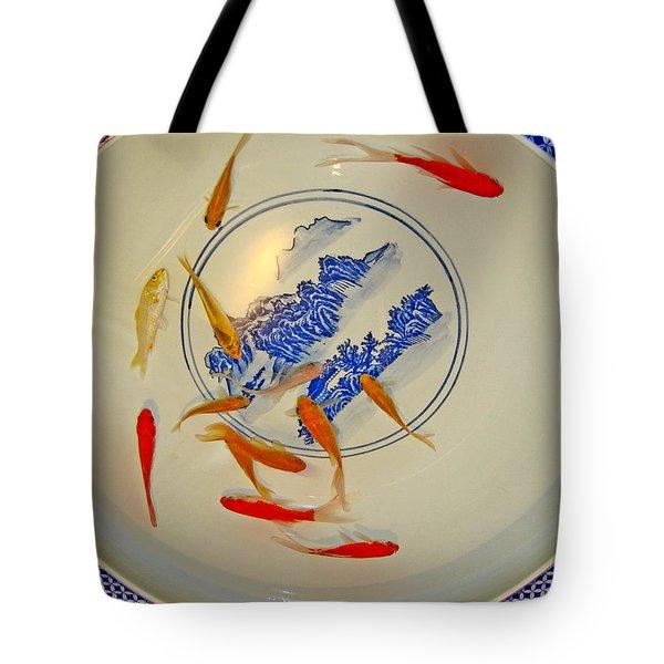 Koi. Chinese Porcelain. Tote Bag