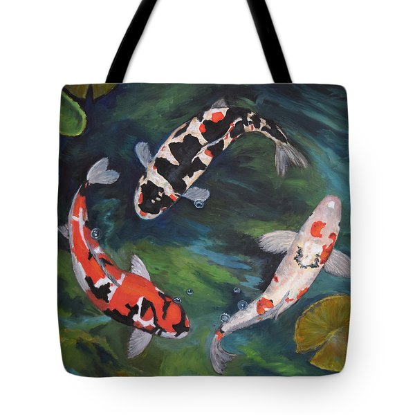 Koi Dance II Tote Bag